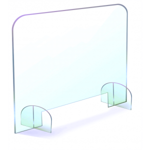 Sneeze Guard - Free Standing with Base Stands CGPS-F36X32