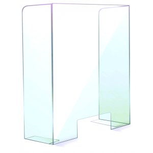 Sneeze Guard - Free Standing with Support Mounts CGPS-F36X32