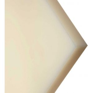 """3/4"""" Natural Nylon Type 6 Cast MoS2 Filled - 24"""" x 24"""""""