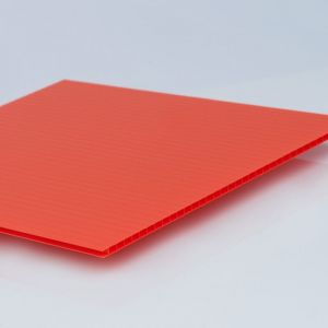 """4mm (0.157"""") Red Corrugated 48"""" x 96"""""""
