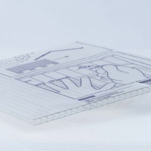 "1/4"" Clear Twinwall Polycarbonate Cut-to-Size"